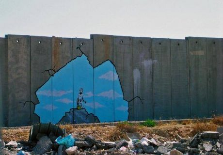 Graffiti sur le mur de séparation entre Israël et la Cisjordanie