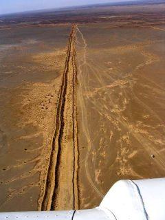 vue aérienne du mur de sable