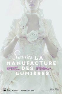 Affiche de l'exposition sur la sculpture du 18e siècle à la Cité de la Manufacture de Sèvres