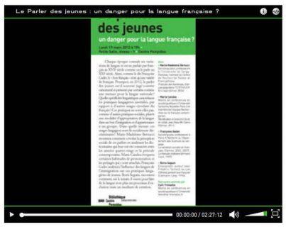 aperçu de la conférence débat du centre Pompidou