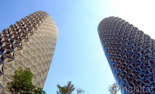 Les Al Bahr Towers à Masdar