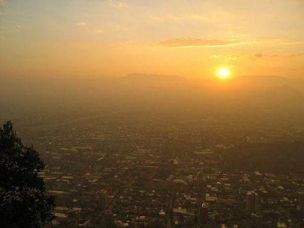 Coucher du soleil. Santiago du Chili. Flickr