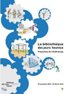 Affiche de la Bibliothèque des jours heureux par l'ESAM design