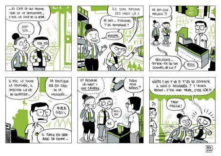 Adja se moque de son ami qui imagine l'épicier du quartier comme un agent secret