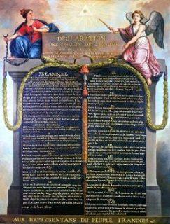Les relations entre religions et État français en quelques datesReprésentation de la Déclaration des droits de l'homme et du citoyen, Jean-Jacques-François Le Barbier, vers 1789, conservé au musée Carnavalet, CC0 Public Domain, via Wikimedia commons.