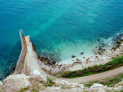 La frontière près de la mer à Malilla