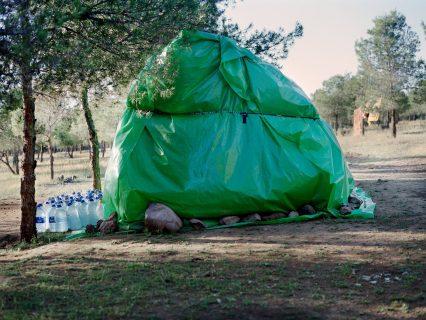 Campement près d'Oujda, Village El-Moussakine, Maroc
