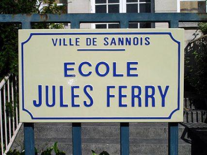 panneau de l'école Jules Ferry à Sannois