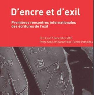 visuel du programme D'encre d'exil 2001