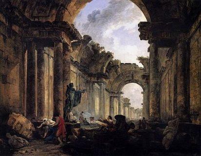 Ruines peintes par Hubert Robert