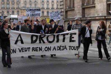photographie d'une Manif de droite, à Lyon, en 2008