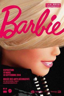 Affiche de l'exposition Barbie au Musée des arts décoratifs, 2016