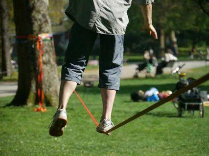 Equilibre sur une corde