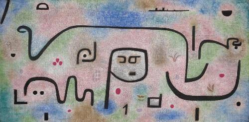 Affiche de l'exposition sur la façade du Centre Pompidou