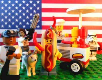 American hot dog