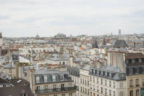 Vue sur les toits depuis le centre Pompidou