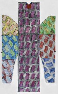tableau en couleur de Claude Viallat