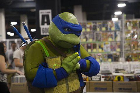 personne déguisée en tortue Ninja