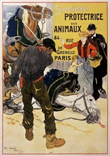 Affiche de Léon Carré de 1904 réalisée pour la Société protectrice des animaux