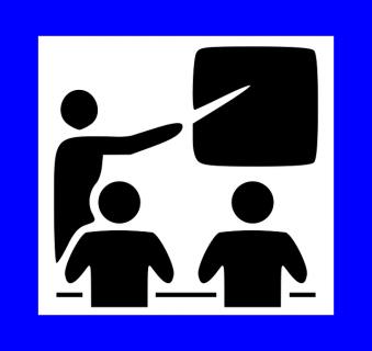 Pictogramme représentant un professeur devant ses elèves