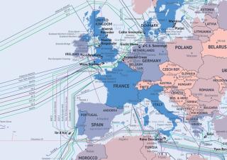 Carte mondiale interactive des câbles sous-marins