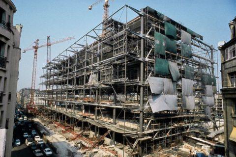 Structure de la façade est, en construction