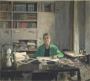 Portrait de Jeanne Lanvin à son bureau par Edouard Vuillard