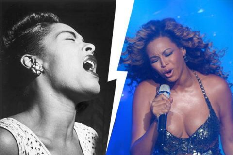 Portraits de Billie Holiday et Beyoncé