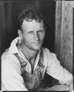 Portrait de Floyd Burroughs, un métayer de coton