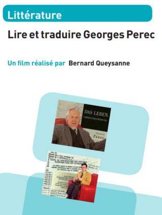jaquette - lire et traduire Georges Perec