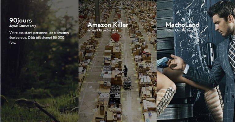 Visuels des applications 90 jours, Amazon Killer et MachoLand