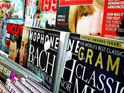 Photographie de plusieurs revues
