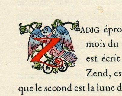 Lettrine de Zadig ou la destinée, ill. de Gustave-Adolphe Mossa, 1924