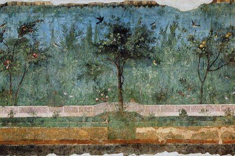 Peinture de jardin de la Villa Livia