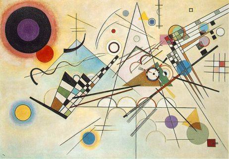 Tableau de Kandinsky intitulé Composition 8 avec des formes géométriques
