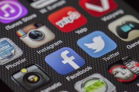 Plusieurs logos de réseaux sociaux
