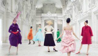 Affiche de l'exposition Dior au Musée des arts décoratifs