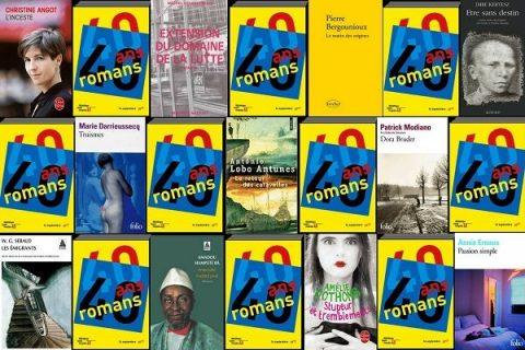 40 ans 40 romans - mosaïque de couvertures années 90