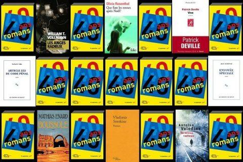40 ans 40 romans - mosaïque de couvertures années 2010