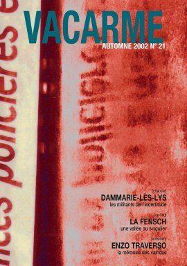 Vacarme - Jean-Pierre Guillard, Bernique, journal d'une anosmie, 2002