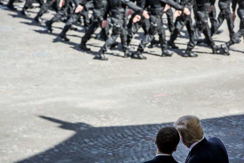 Emmanuel Macron et Donald Trump au défilé du 14 juillet