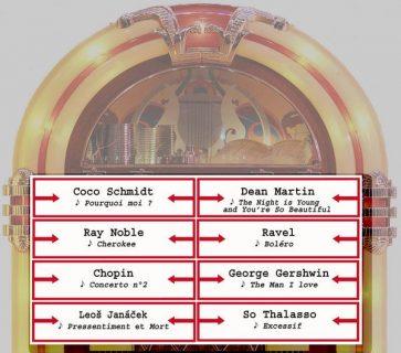 jukebox avec titres de musiques cités dans les romans d'Echenoz