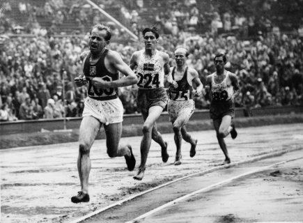 Course d'Emil Zatopek à Londres en 1948