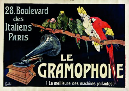 Affiche pour le gramophone