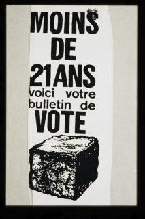 Le bulletin de vote pour les moins de 21 ans : un pavé