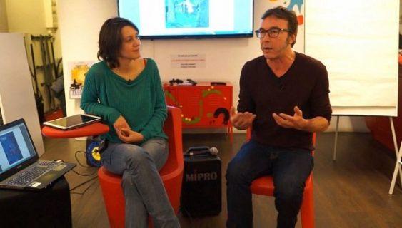 Sonia Déchamps et Daniel Casanave à la Bpi