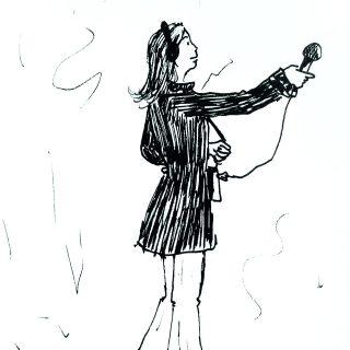 Portrait dessiné de Monica Fantini