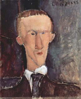 Portrait de Cendrars par Modgliani
