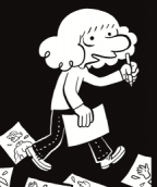 Riad Sattouf, affiche de l'exposition L'écriture dessinée