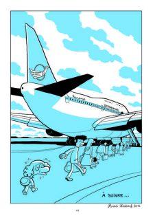 Planche de L'Arabe du futur, la famille prend l'avion